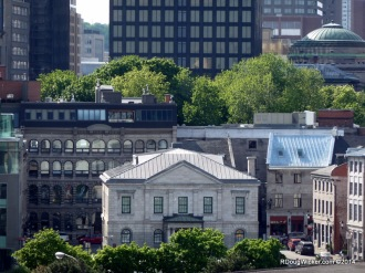 Old Montreal in the foreground