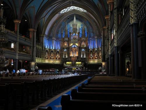 Facing the altar and ambulatory