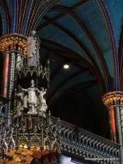 Above the pulpit