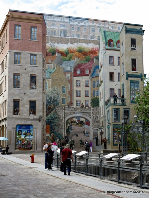 Fantastic example of trompe l'oeil in Lower Town