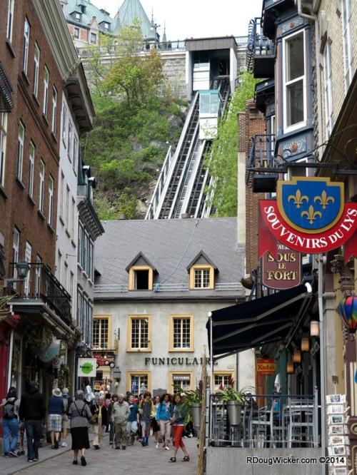 The Old Québec Funicular saves you a climb