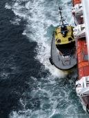 Pilot boat alongside the MS Maasdam