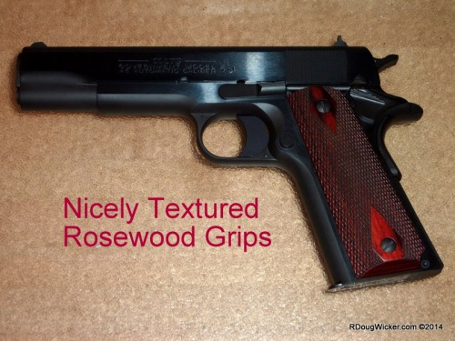 Textured Rosewood Grips