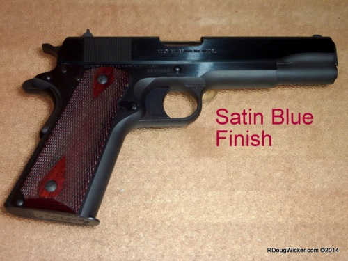 Satin Blue Finish