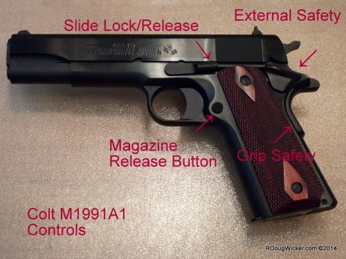 Standard M1911 controls