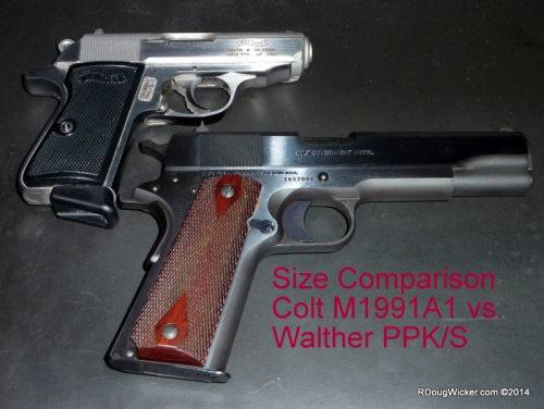 Size comparison with a Walther PPK/S