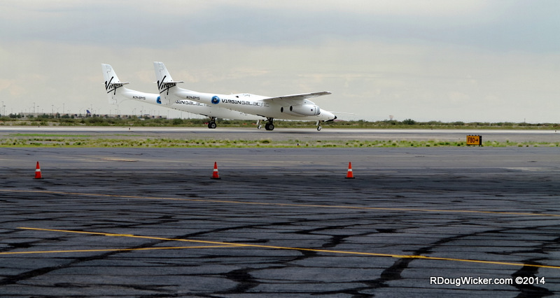 WhiteKnightTwo taxiing out for departure