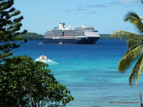 Tendering into Lifou from MS Oosterdam