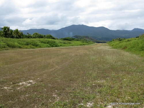 2,001 feet of landing strip — Aneityum in the background