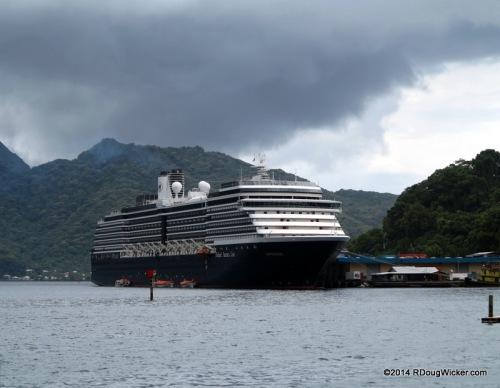 MS Oosterdam in Pago Pago Harbor