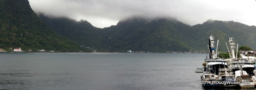 Mountain Mists above Pago Pago Harbor