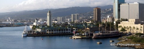 Pier 9 Honolulu Harbor and Aloha Tower