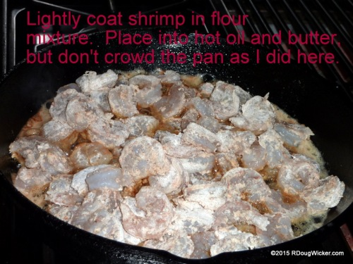 Too many shrimp in the pan!