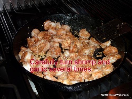 Toss in the garlic