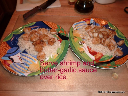 Served over rice