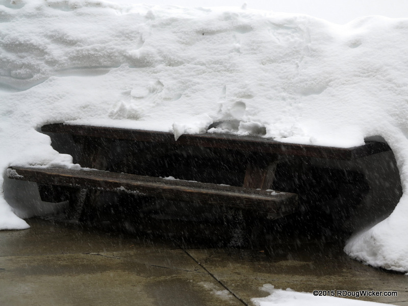 Picnic Table Under Snow