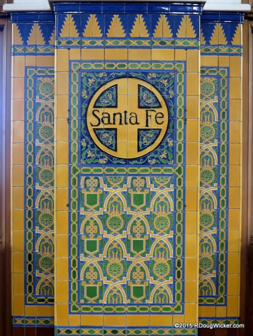 Tile from when Union Station was known as the Santa Fe Depot
