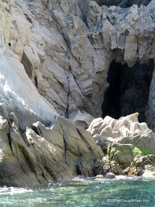 Caves among the cliffs