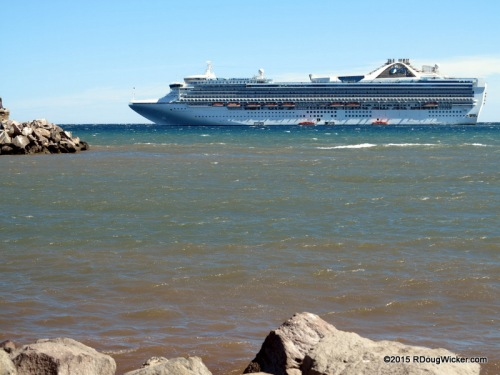 Golden Princess offshore from Loreto, Mexico