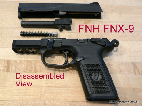 FNH FNX-9 disassembled view