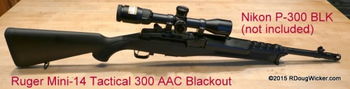 Ruger Mini-14 300 AAC Blackout with Nikon P300 BLK