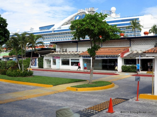 Grand Princess in port in Puerto Vallarta