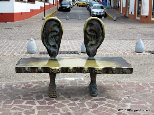 I'm All Ears — A bench located in Alejandro Colunga's Roundabout of the Sea