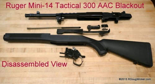 Ruger Mini-14 300 AAC Blackout disassembled