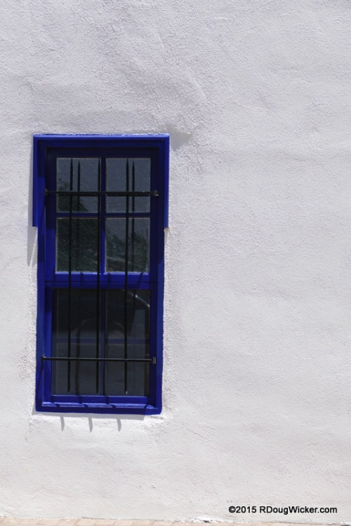 The Blue-Framed Window