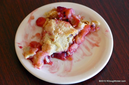 Homemade Fruit Pie hot from the oven