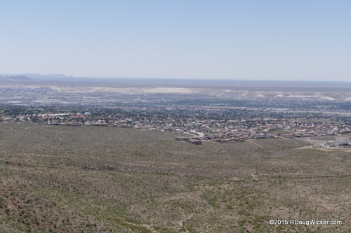 View from Transmountain Pass of West El Paso and both Old and New Mexico