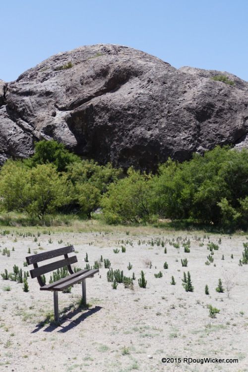Bench and Boulder