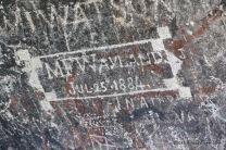 Historical Inscription — M.F. Wayland, July 25, 1884