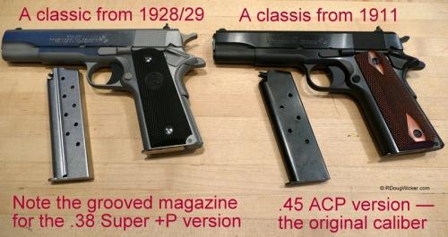 Colt .38 Super vs. Colt .45 ACP