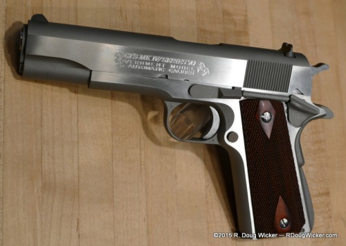 Colt's Custom Shop Mk. IV Series 70 in stainless
