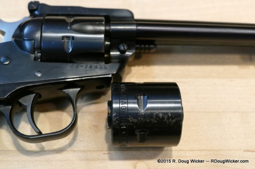 "Note the correct "".22 WIN MAGNUM CAL."" stamp in the smooth cylinder"