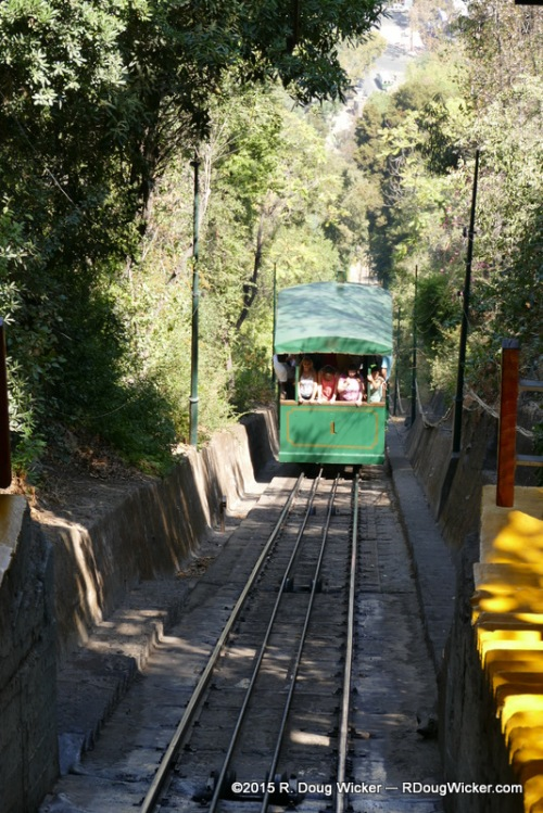 The Funicular to the top of San Cristóbal Hill