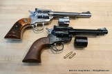 Two Single-Sixes each chambered in two rounds — .22LR and .22WMRF