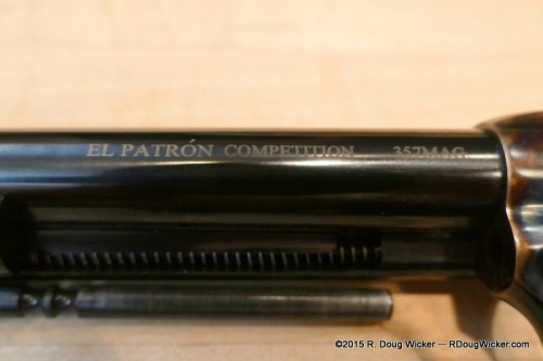 Uberti El Patrón Competition barrel markings