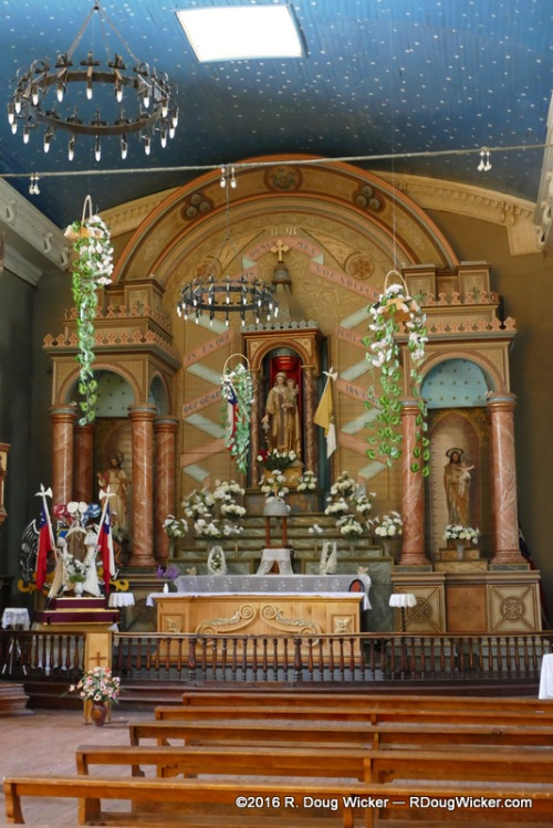 Inside Monte Grande's Church