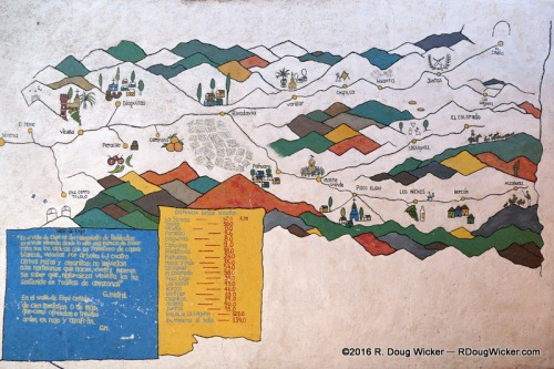 A map of Elqui Valley