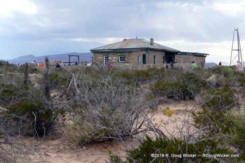 Scrubland surrounding the McDonald Ranch House