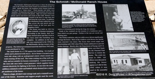 Schmidt-McDonald Ranch House plaque