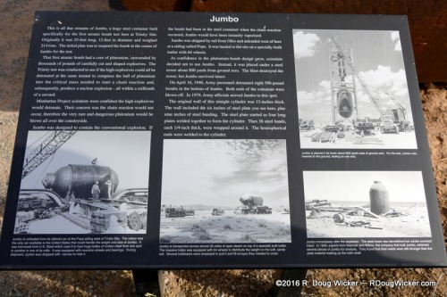 Plaque describing Jumbo