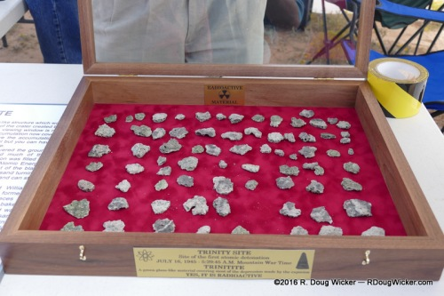 Samples of trinitite on view at Trinity Site