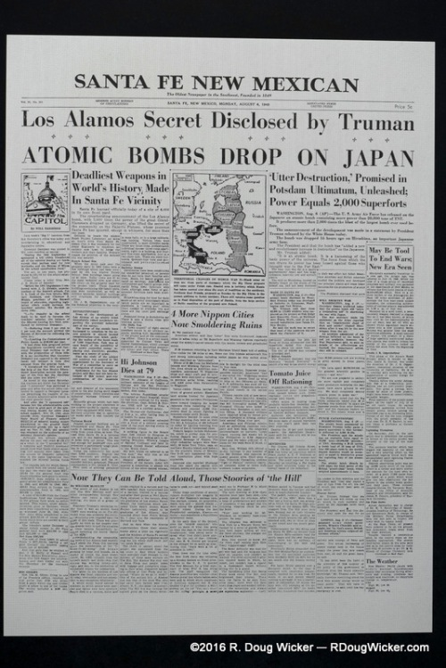 The news breaks — Manhattan Project revealed