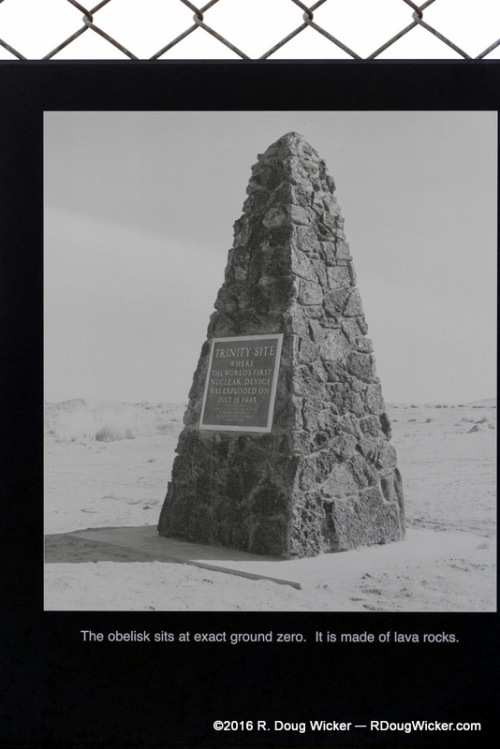Trinity Site Obelisk erected in 1965 — 20 years after the blast