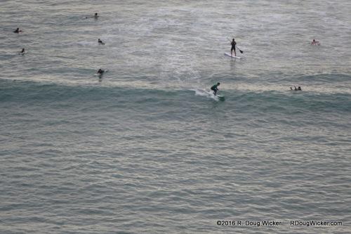 Surfing below Love Park