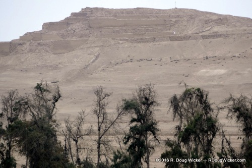 One of the massive Pachacamac Pyramids