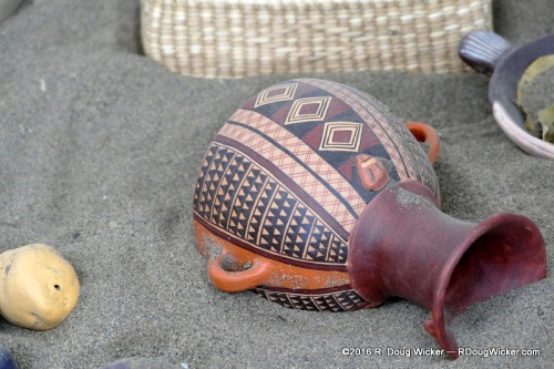 Replica Pottery at Pachacamac